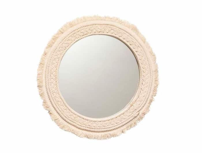 "Fringe round mirror, by H&M Home.<span class=""sr-only""> (opened in a new window/tab)</span>"