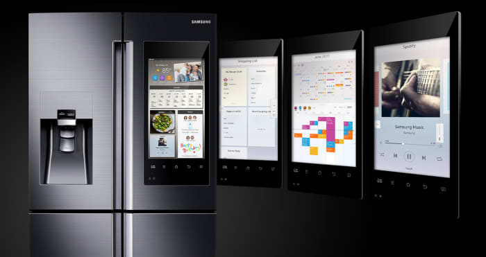 Smart kitchen concept is brought to the next level by the new home entertainment functions in smart fridges.