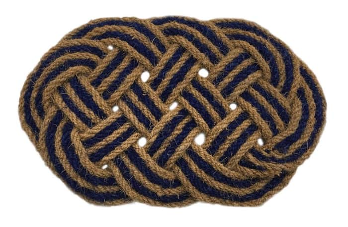 Rope door mat, by Artsy.