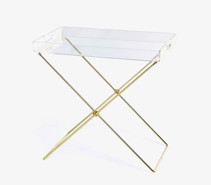 Plastic table-tray, by Zara Home.