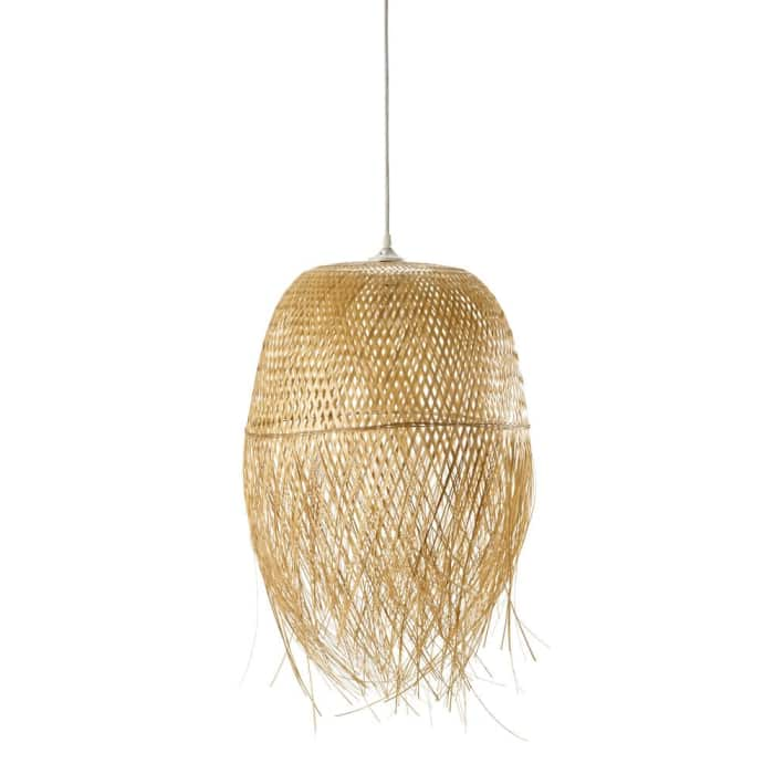"Woven bamboo pendant light, by Maisons du Monde.<span class=""sr-only""> (opened in a new window/tab)</span>"