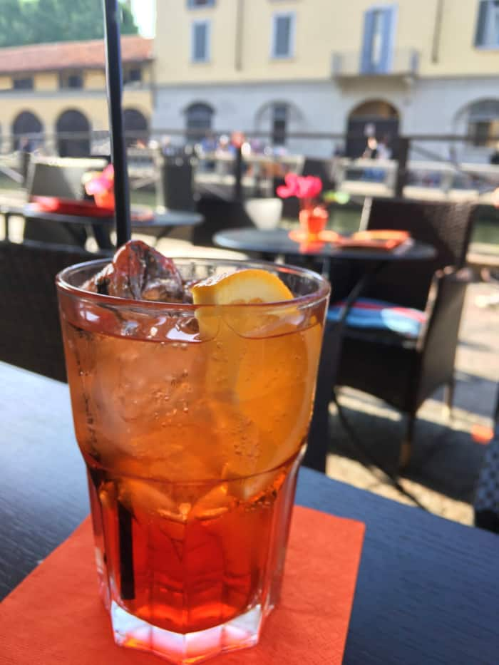 A glass of a typical Italian drink.