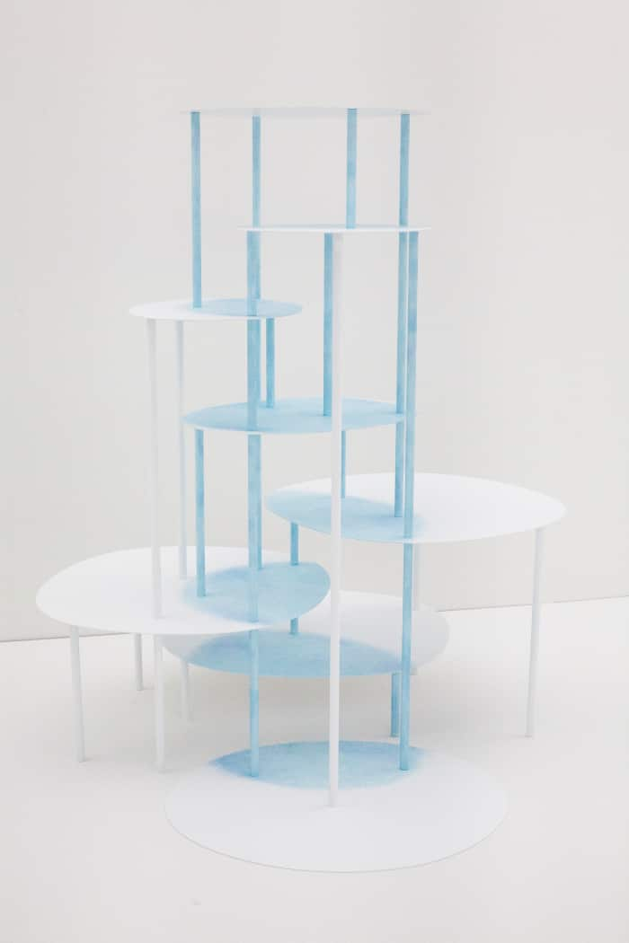 A high table from the Watercolour Collection by Nendo