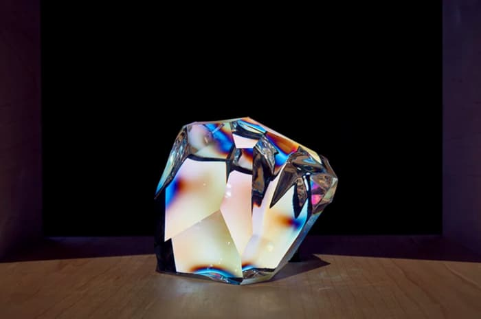 A big Swarovski crystal, that could work as an interface between humans and smart home devices