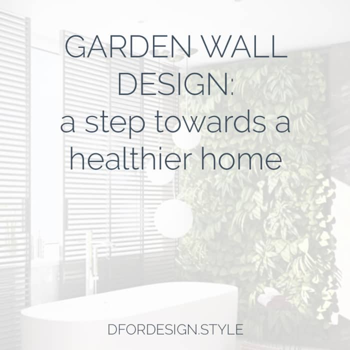Garden wall design image with title.
