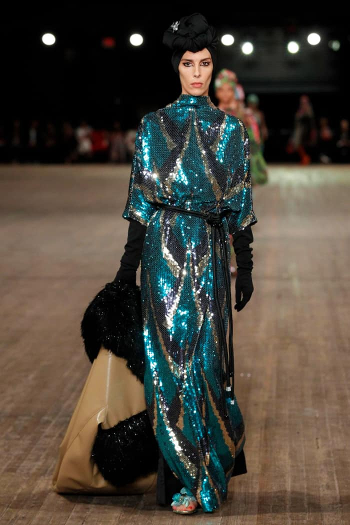 Sequin dress, by Marc Jacobs.