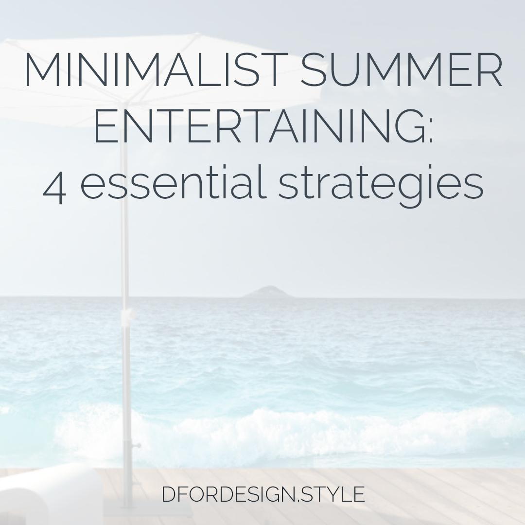 Minimalist summer entertaining. Pin It.