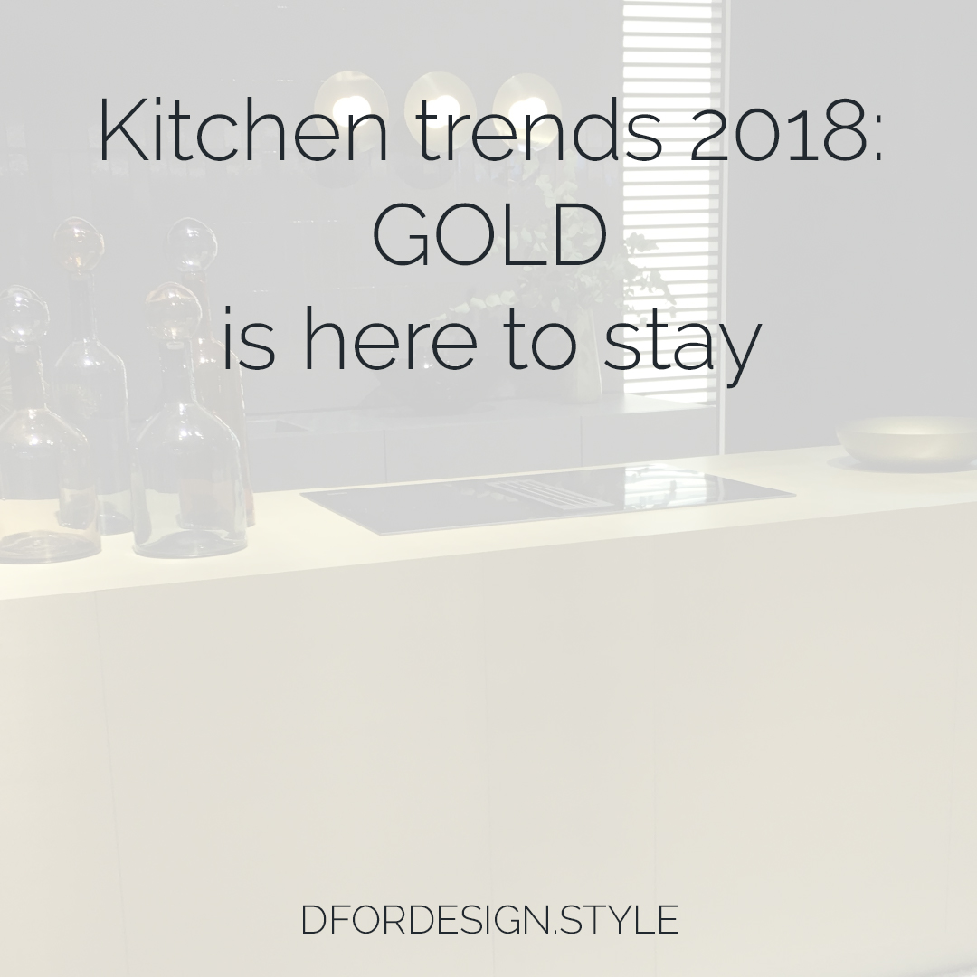Gold kitchen trend. Pin It.