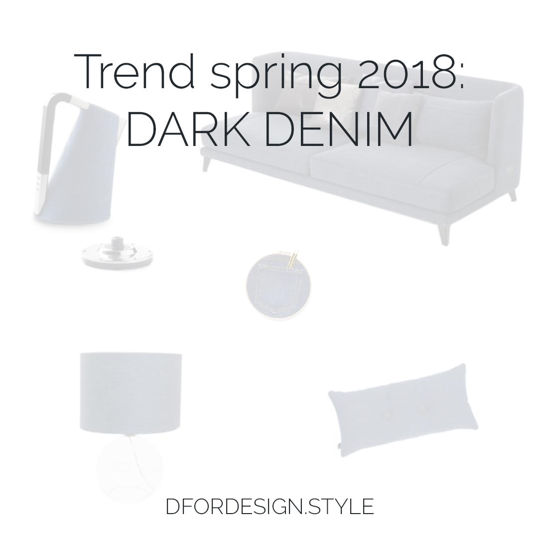 Denim interior design trend. Pin It.