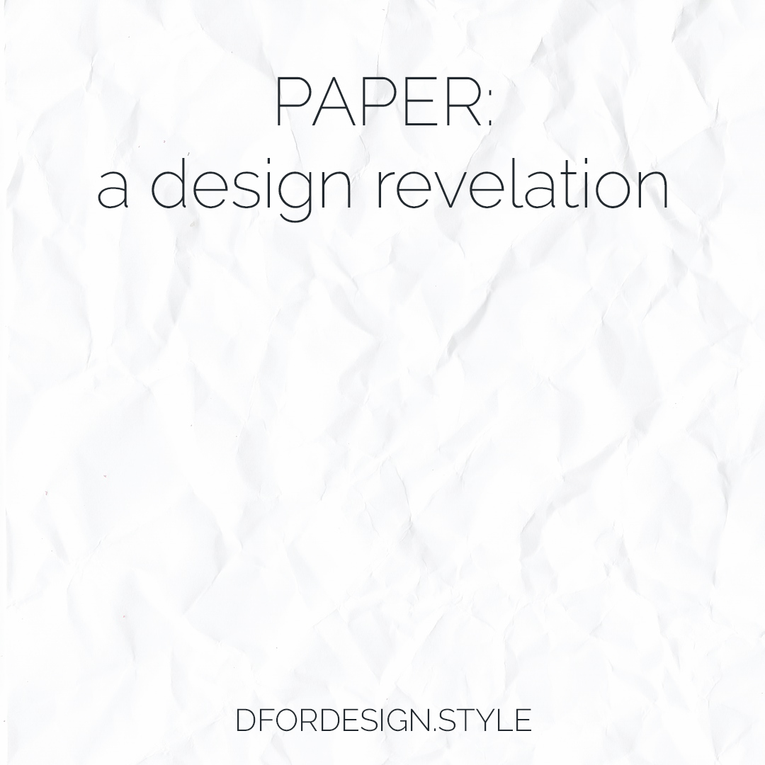 Paper, a design revelation. Pin It.