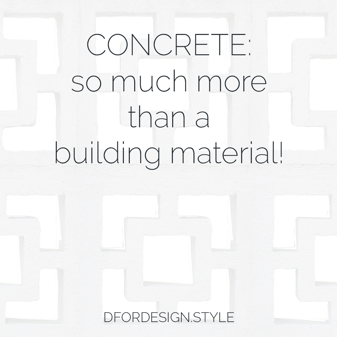 Concrete, so much more than a building material. Pin It.