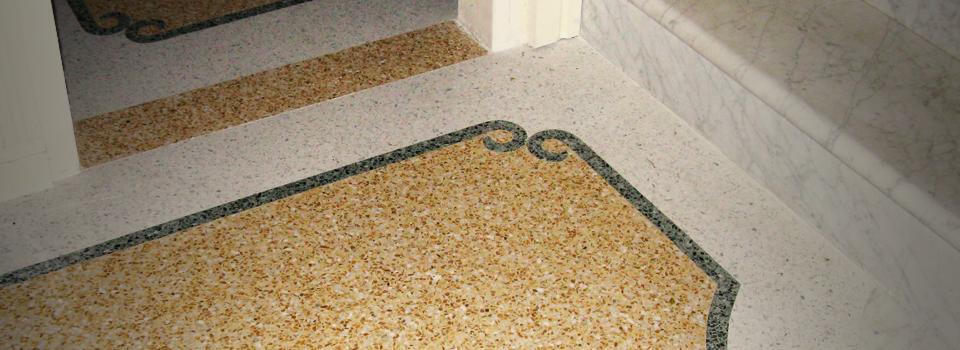 Original Venetian terrazzo flooring.