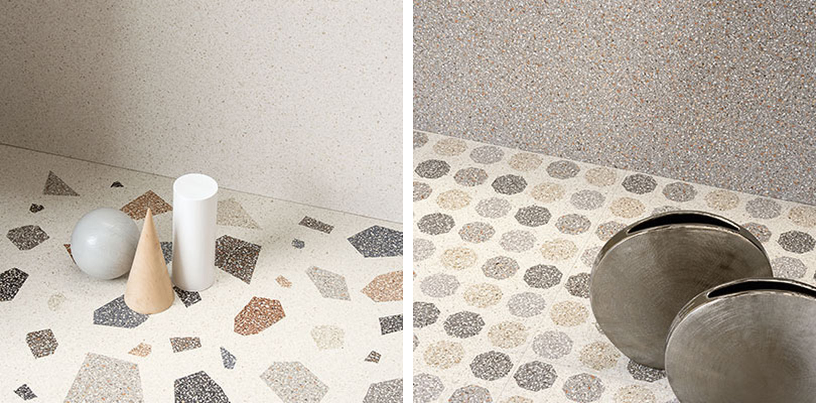 Example of terrazzo at Cersaie 2018.