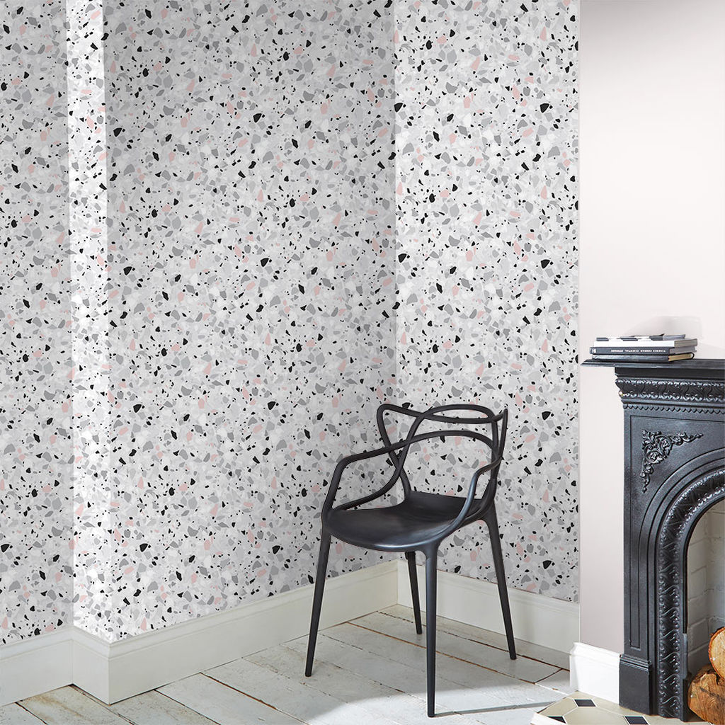 Terrazzo wallpaper by Graham&Brown.