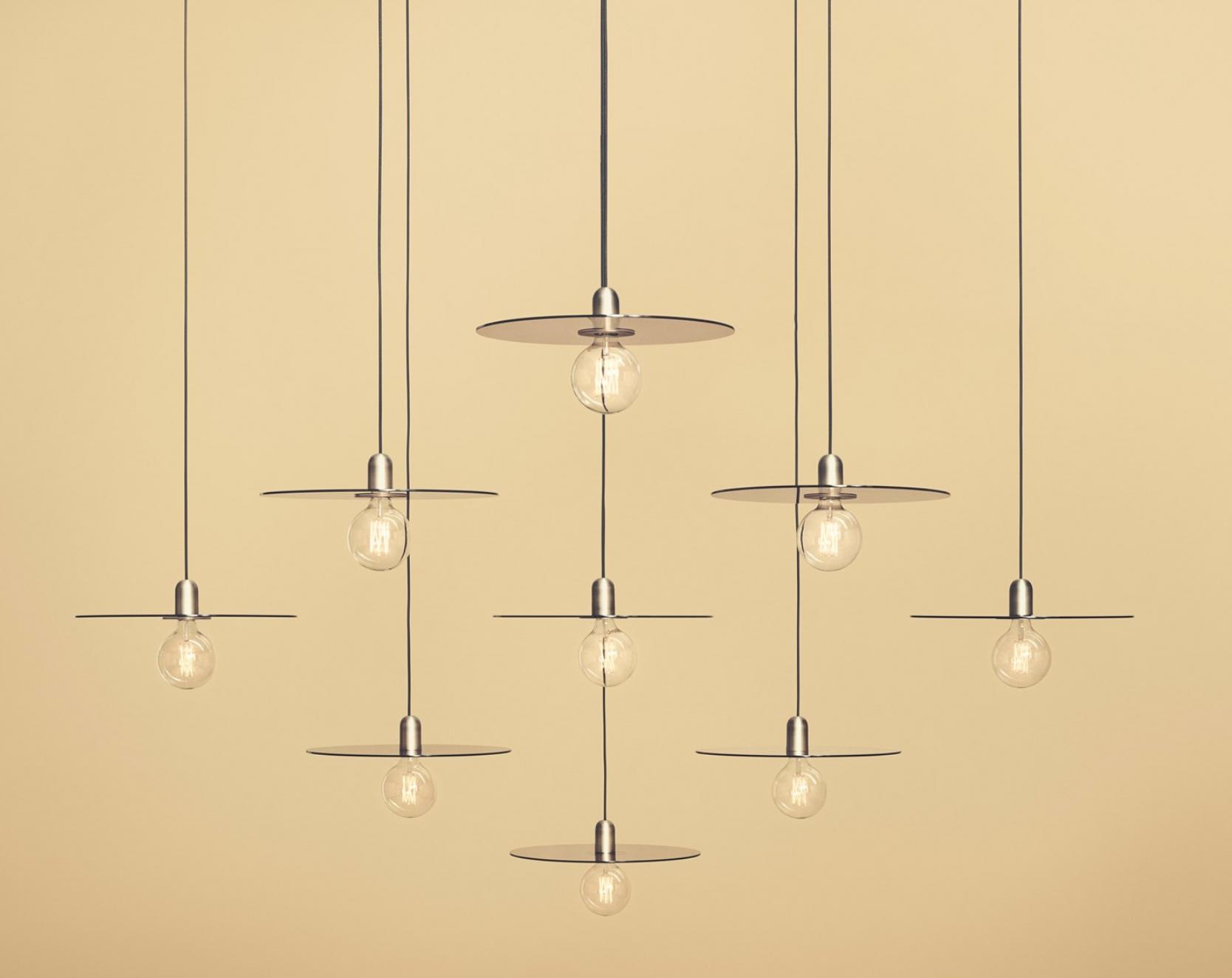 Gold light fixture.