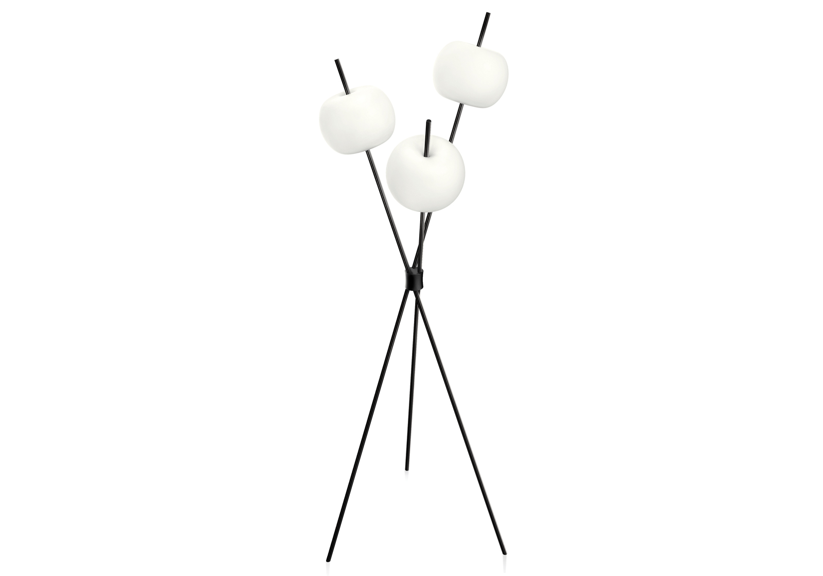 Sculptural floor lamp.
