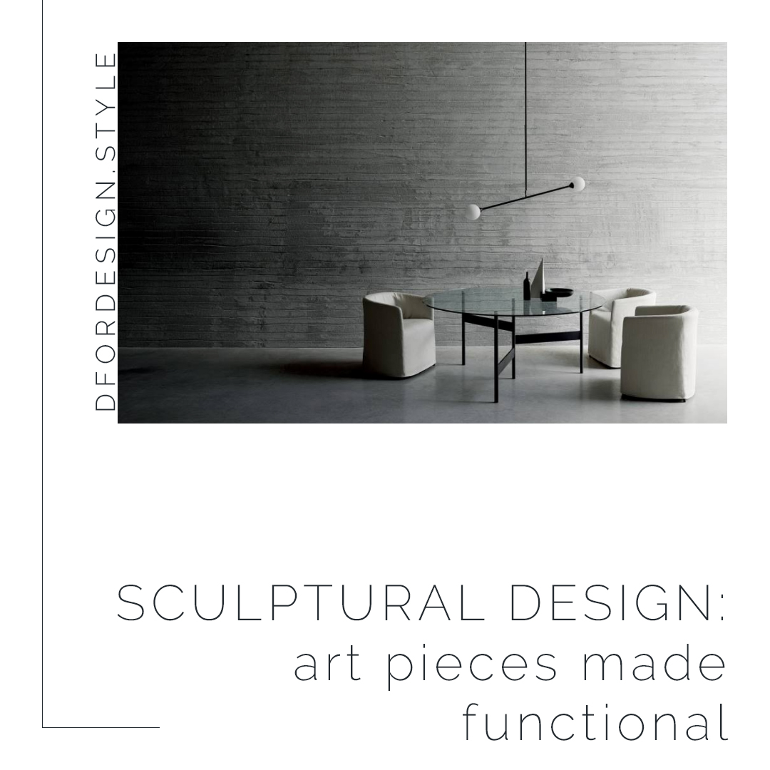 Sculptural design: art pieces made functional. Pin it.