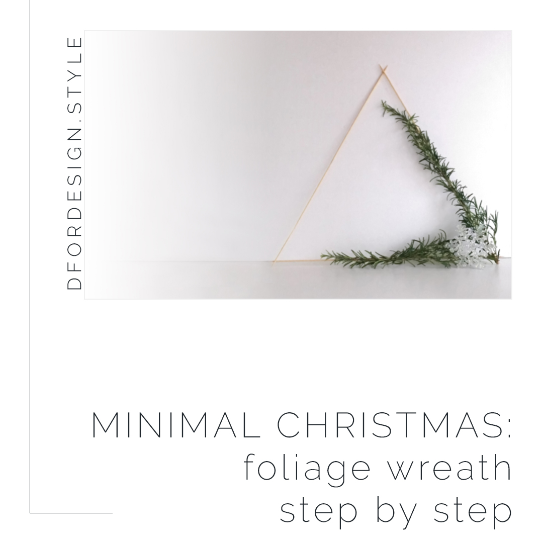 Minimal Christmas: DIY foliage wreath step by step. Pin it.