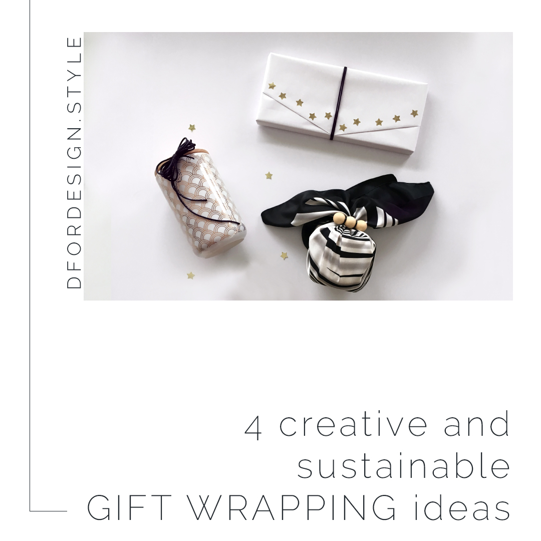 4 creative and sustainable gift wrapping ideas. Pin it.