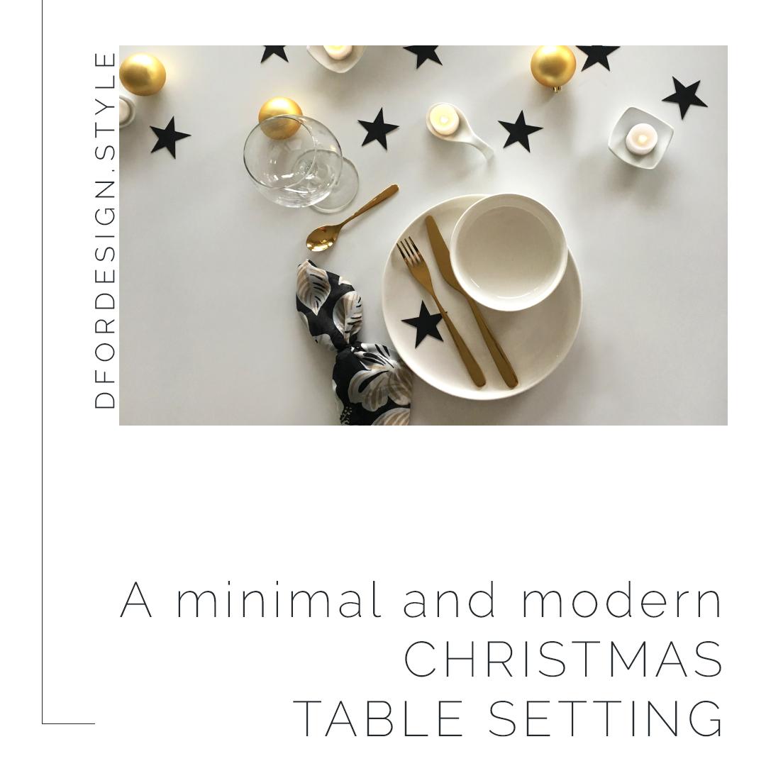 A minimal and modern Christmas table setting. Pin it.