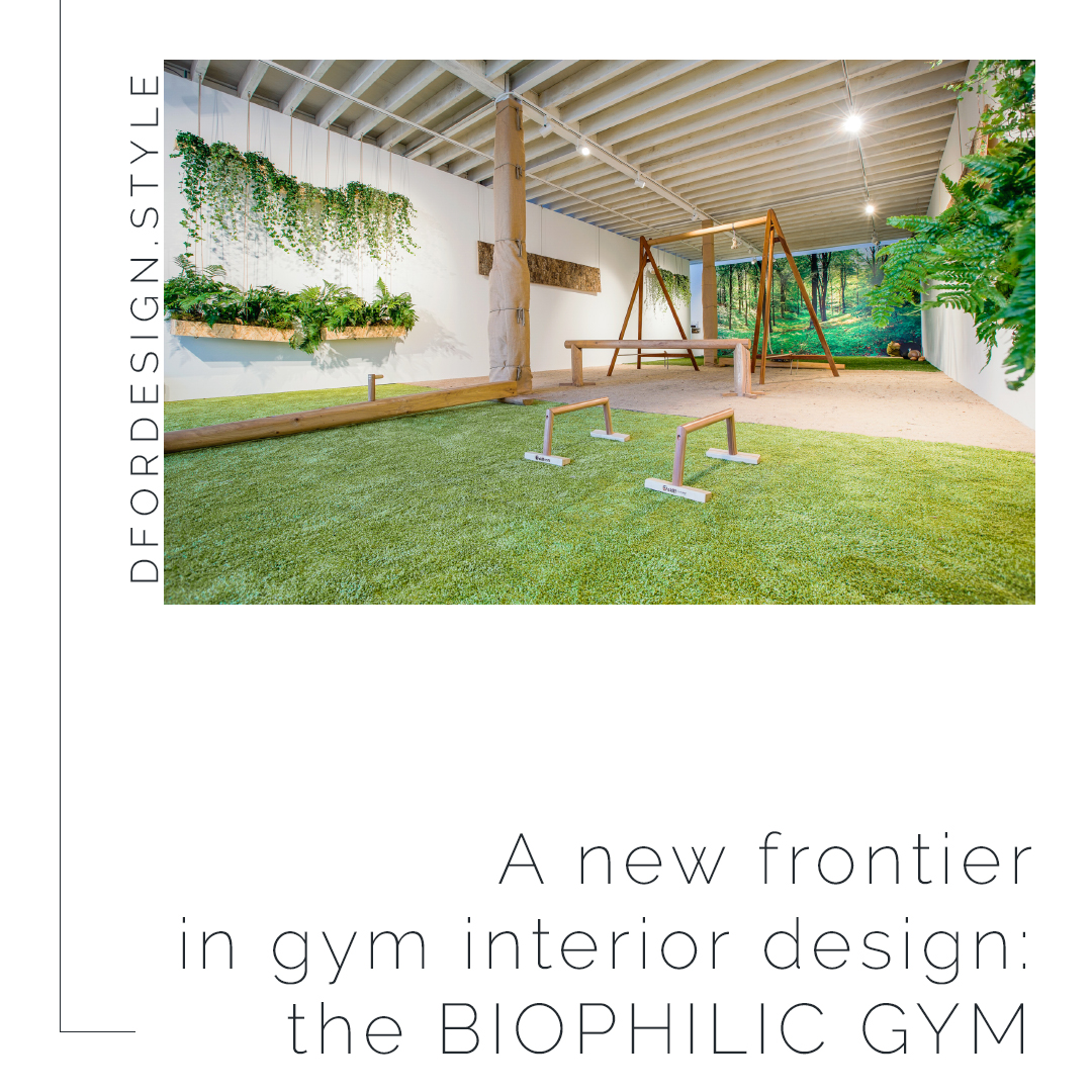 A new frontier in gym interior design: the biophilic gym. Pin it.