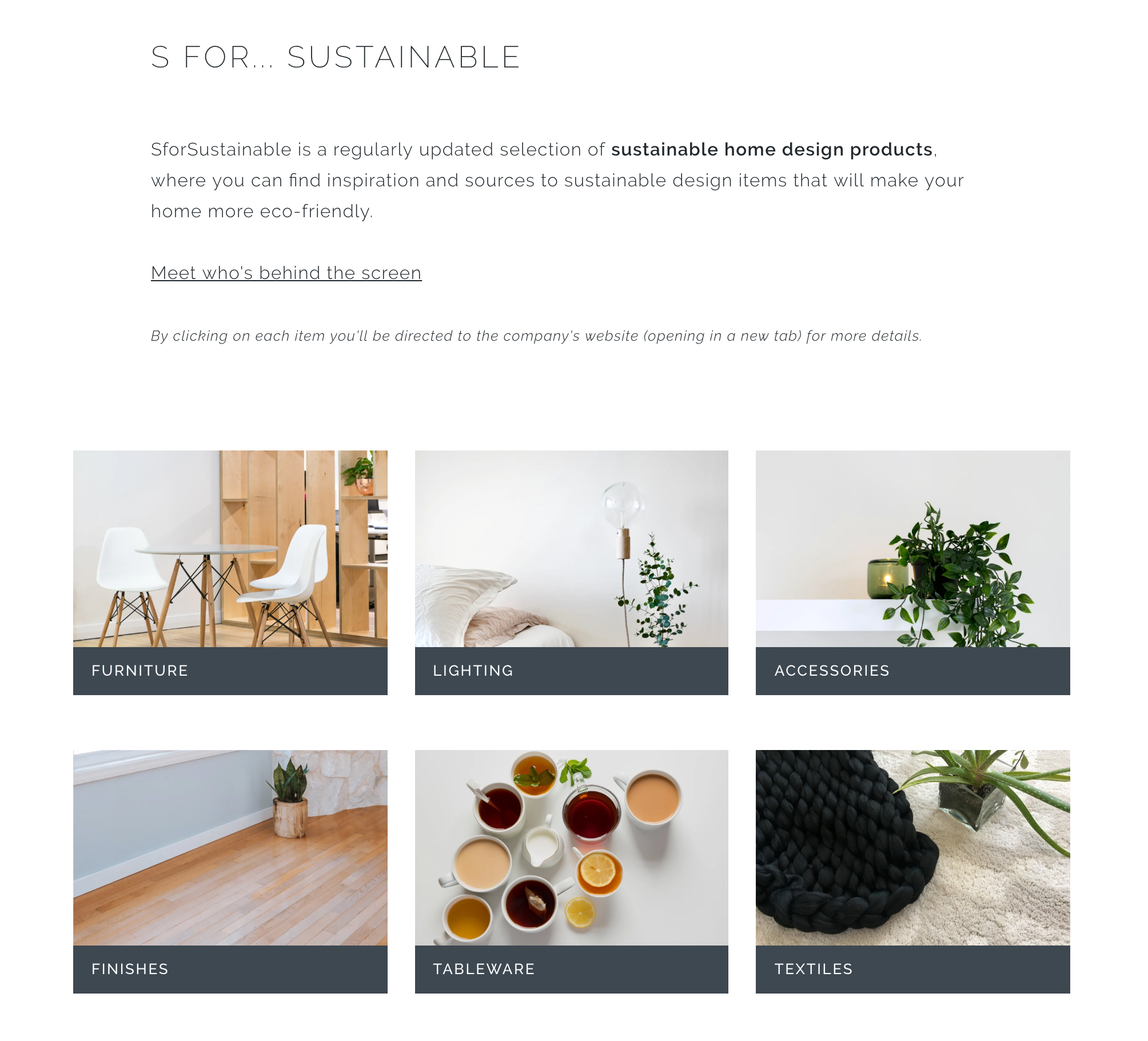 Screenshot of the SforSustainable page.