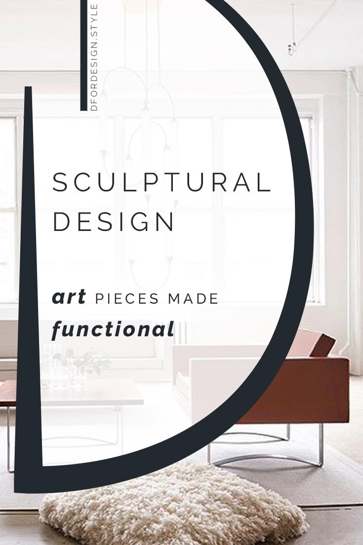 Sculptural design: art pieces made functional. Pin it.