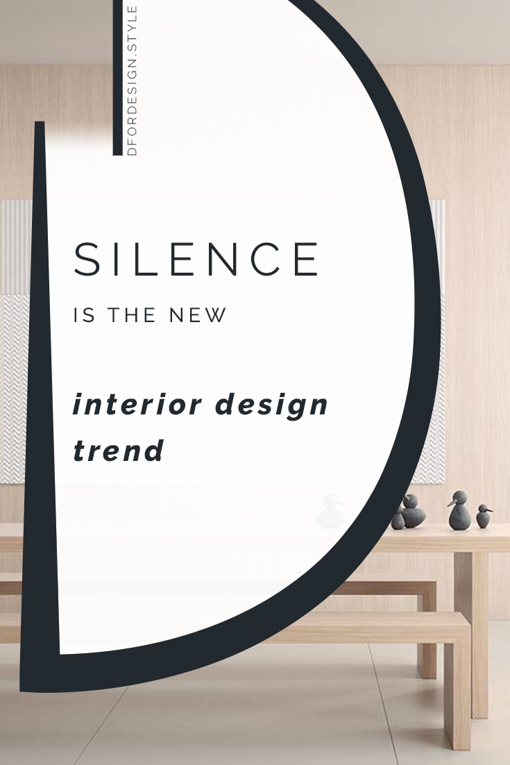 What if silence were the new interior design trend?. Pin it.