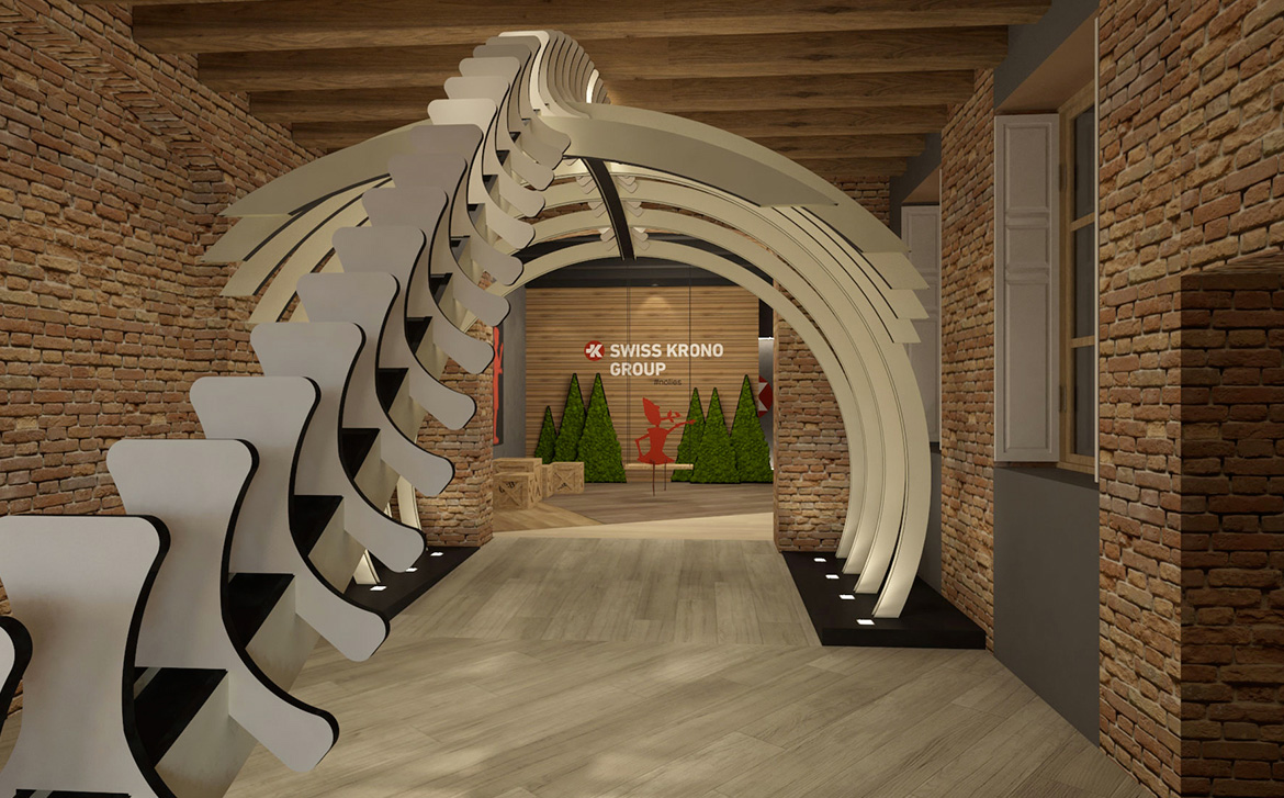 Rendering of the Be sustainable installation.