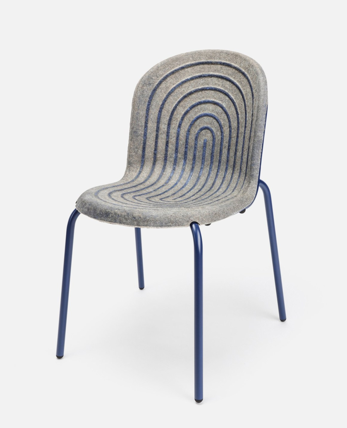 Chair with seating made with hemp panel bonded together with a casein-based glue.