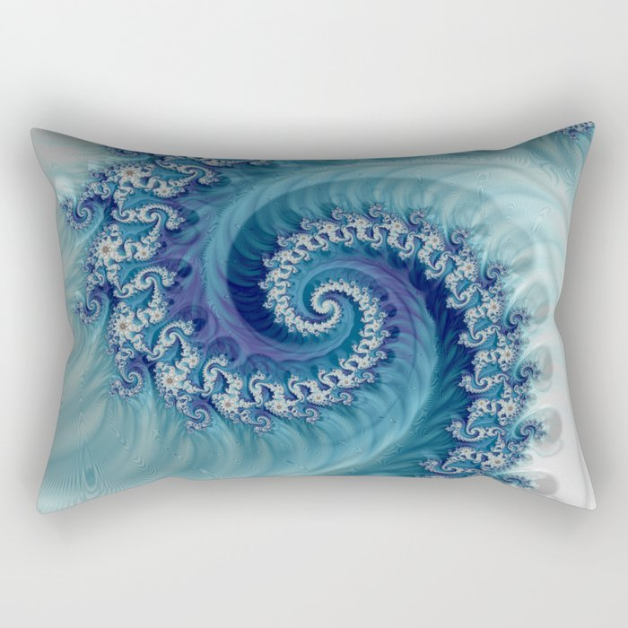 Cushion cover printed with a fractal pattern.