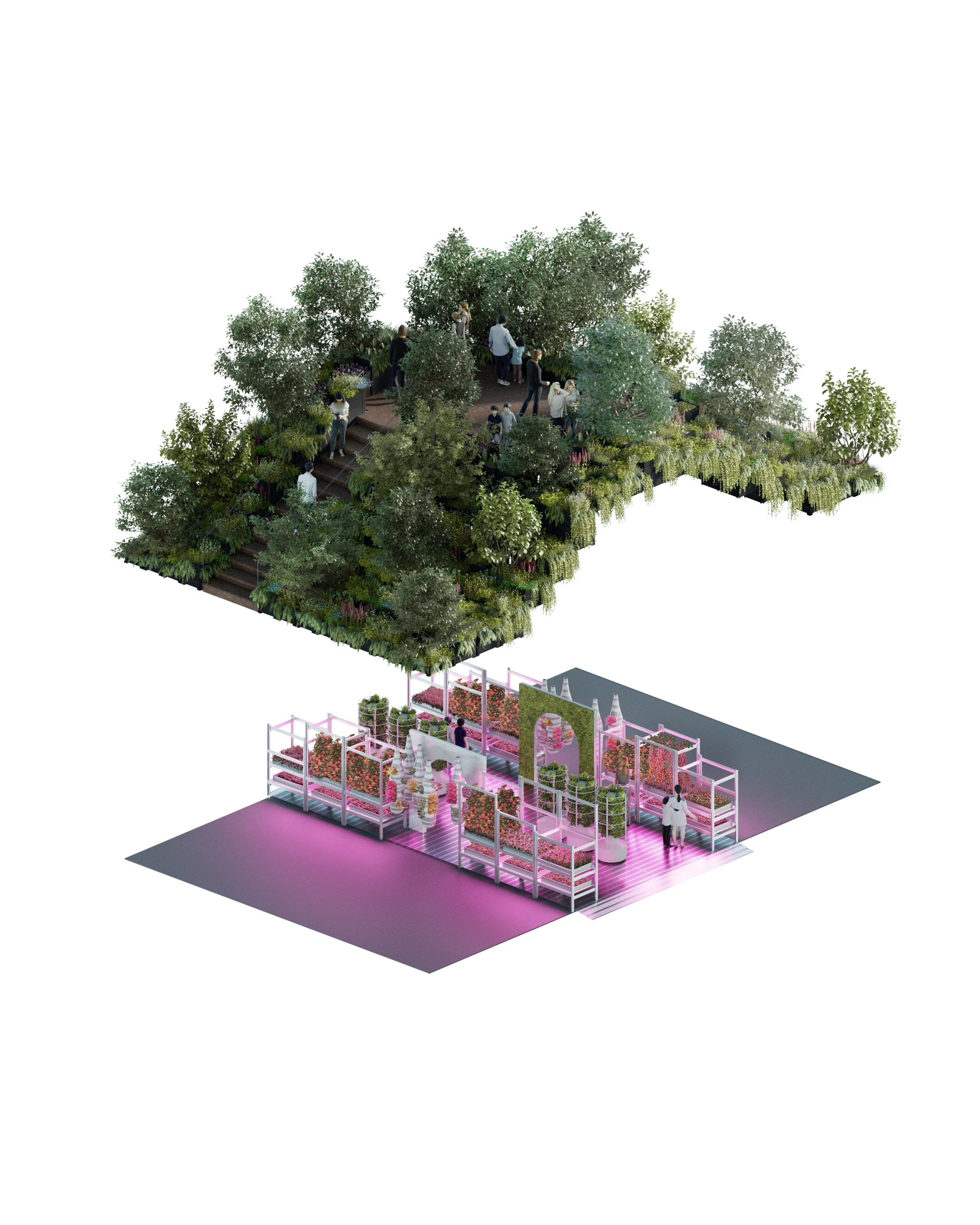 A rendering of the concept garden.