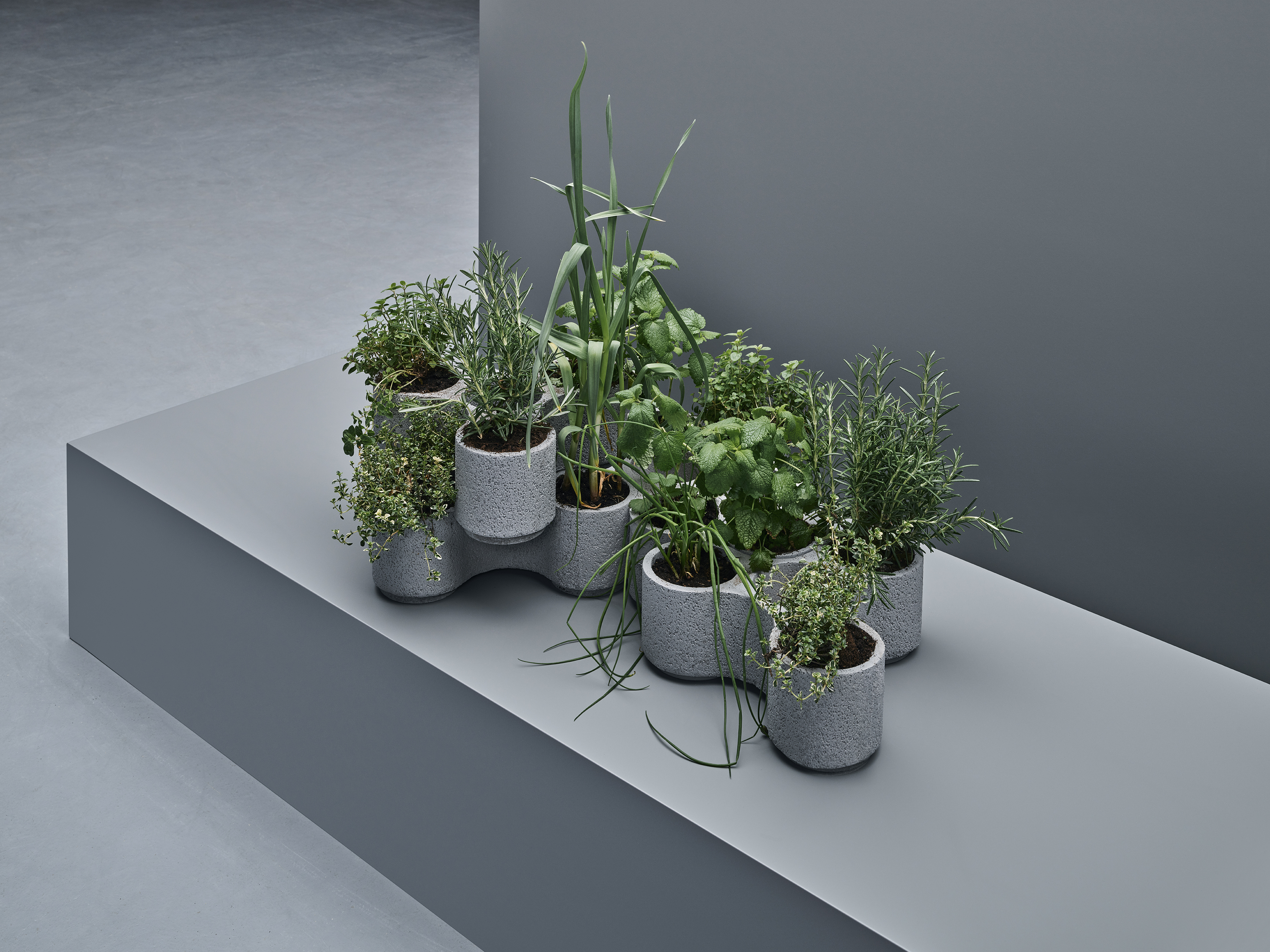 The stackable planters designed by Tom Dixon for IKEA.