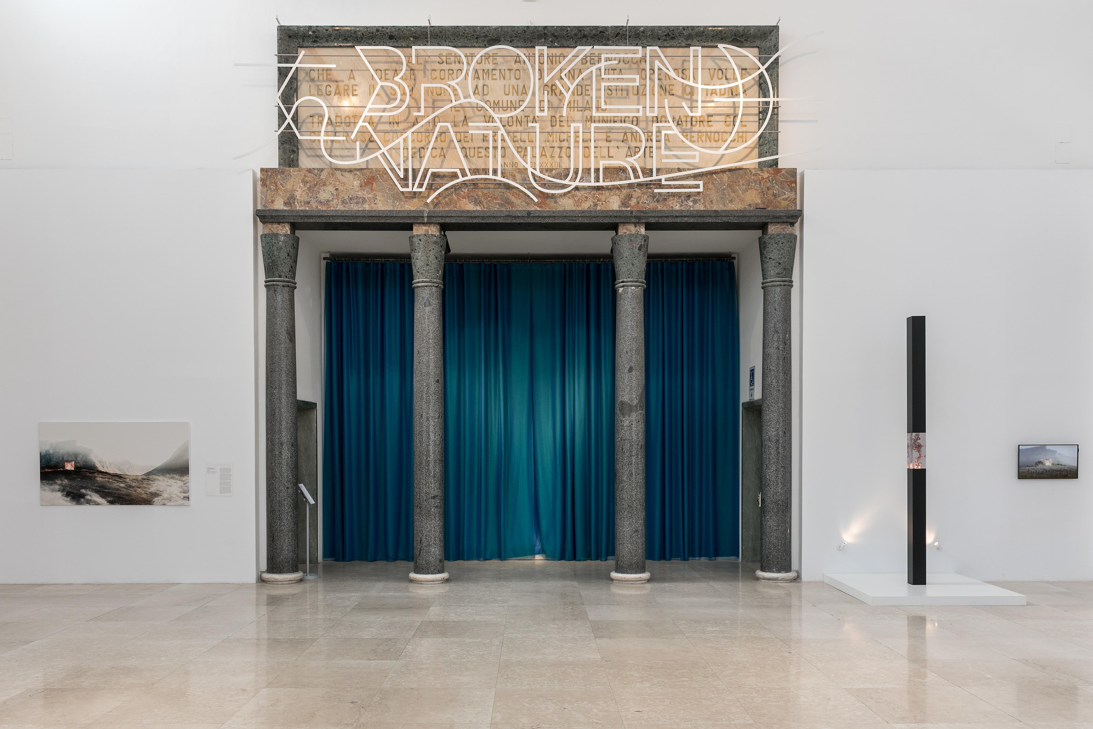 Entrance of the Broken Nature exhibition.