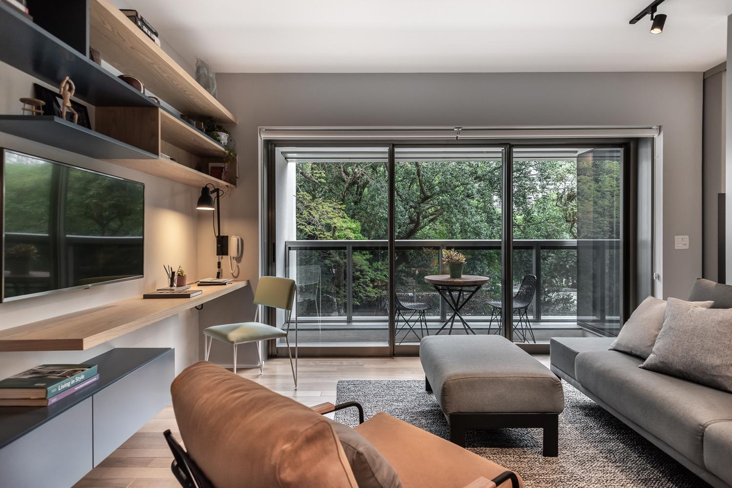 Biophilic living room.