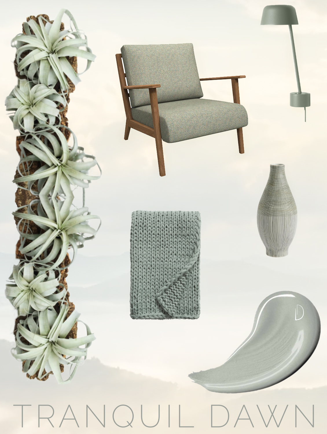 Tranquil Dawn interior design products.