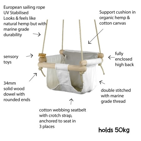 organic baby toddler swing information