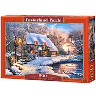 Zimska koliba puzzle 500kom - Castorland