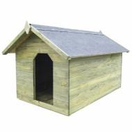 Vrtna kućica za pse od impregnirane borovine s pomičnim krov...