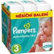 Pampers plenice Active Baby 3 Midi, 208 kosov