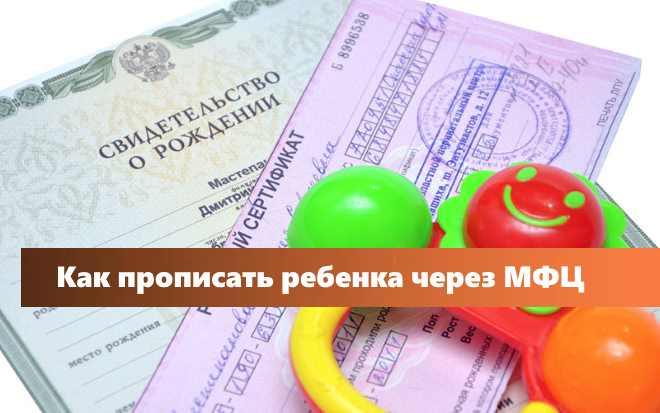Какие документы нужны при регистрации новорожденного по месту жительства в мфц