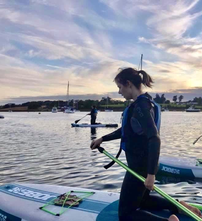 PaddleBlog - Gillian and her Sunset SUP Experience