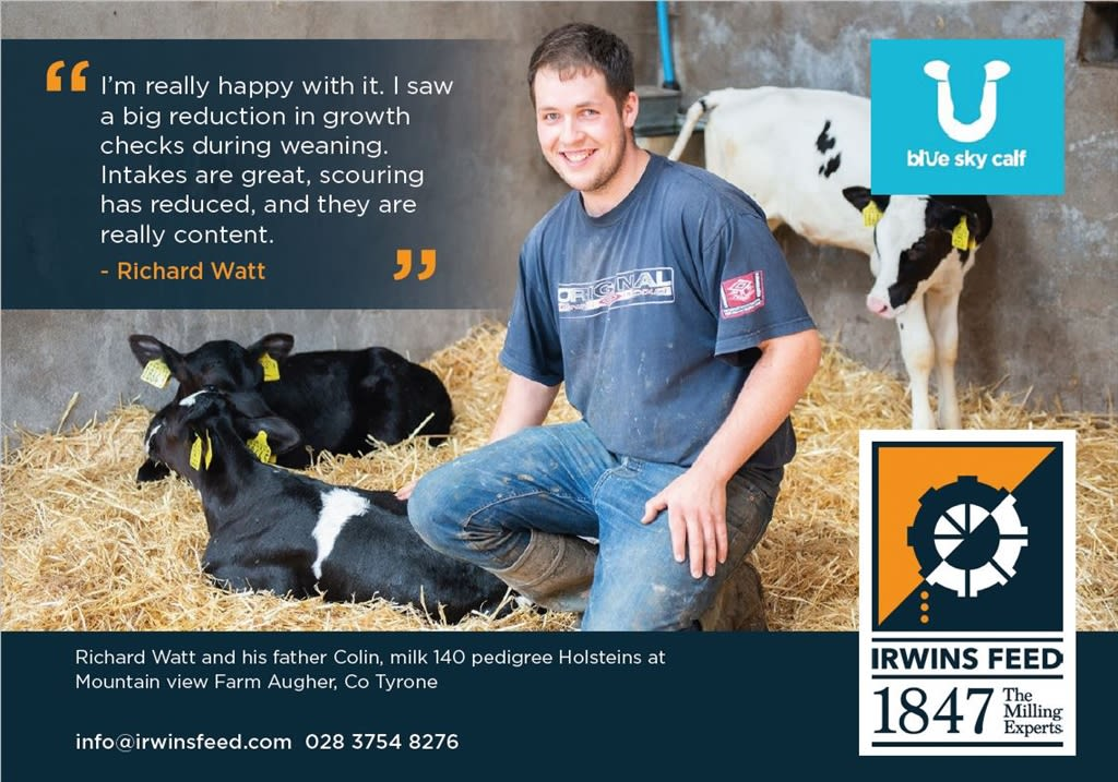 Irwin's Customers See Great Response with Blue Sky Calf Feed Range