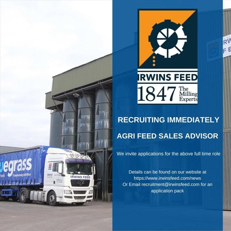 Now Recruiting - Agri Feed Sales Advisor
