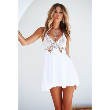 a275cff3a2 Secret Wishes Playsuit (White Floral) - Hinted