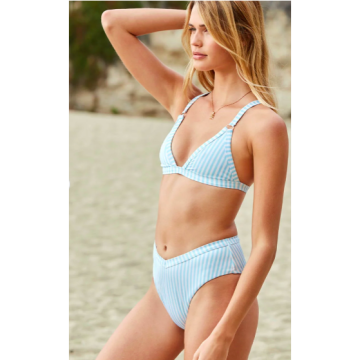 fbb57068e4 LA Hearts Contrast Binding Triangle Bikini Top - Hinted