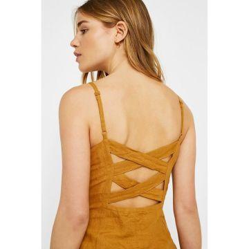 a0b0f6d7d41f UO Linen Button-Through Ladder Back Dress