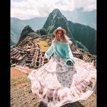 TAURUS: Wild Bloom Maxi Skirt - Hinted