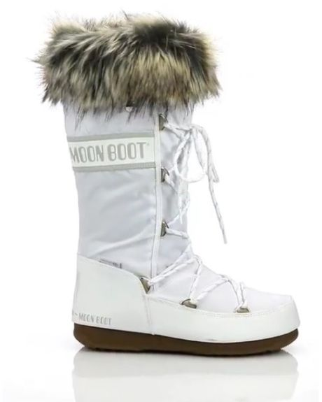 newest 53d98 127ca Monaco Faux Fur-Trimmed Moon Boots - Hinted