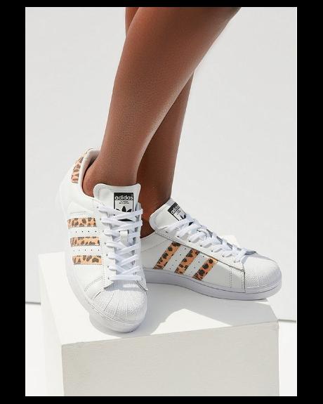 best service 29287 a29b8 Adidas Originals Superstar Leopard Sneaker - Hinted